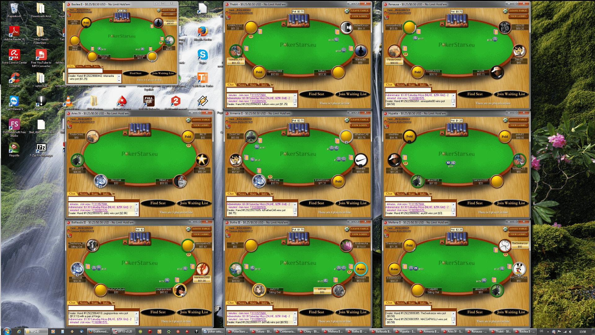 Poker Tischanordnung - WQHD(3x3)