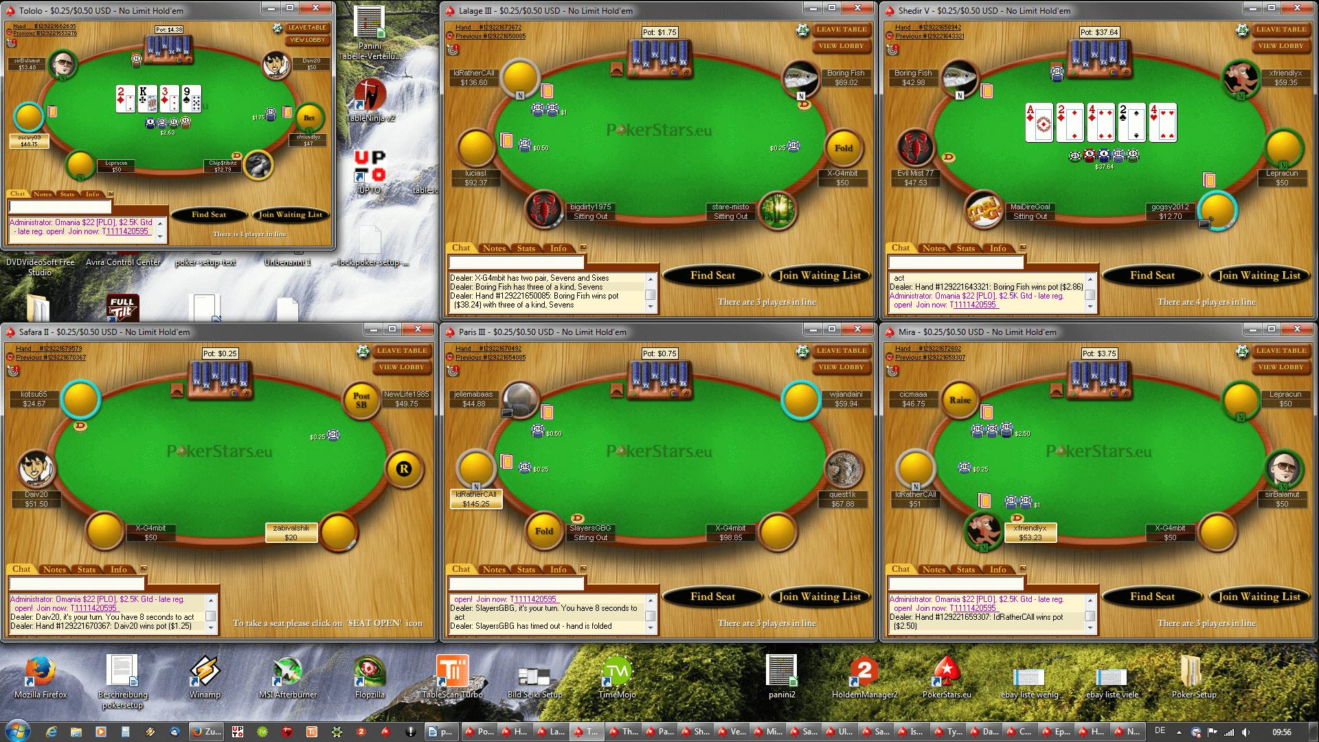 Tischanordnung Poker - FullHD(3x2)