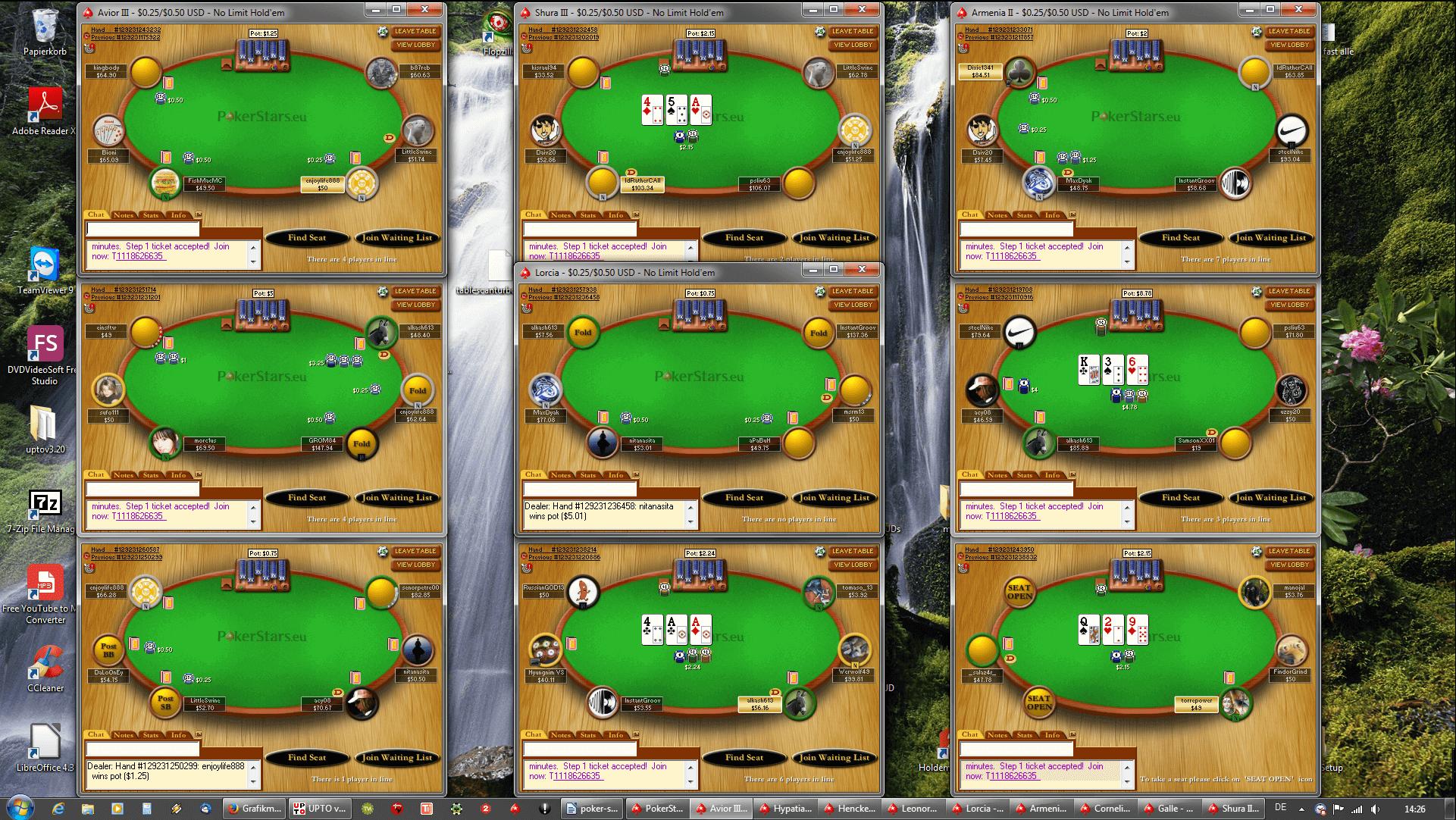 Tischanordnung Poker - FullHD(3x3)