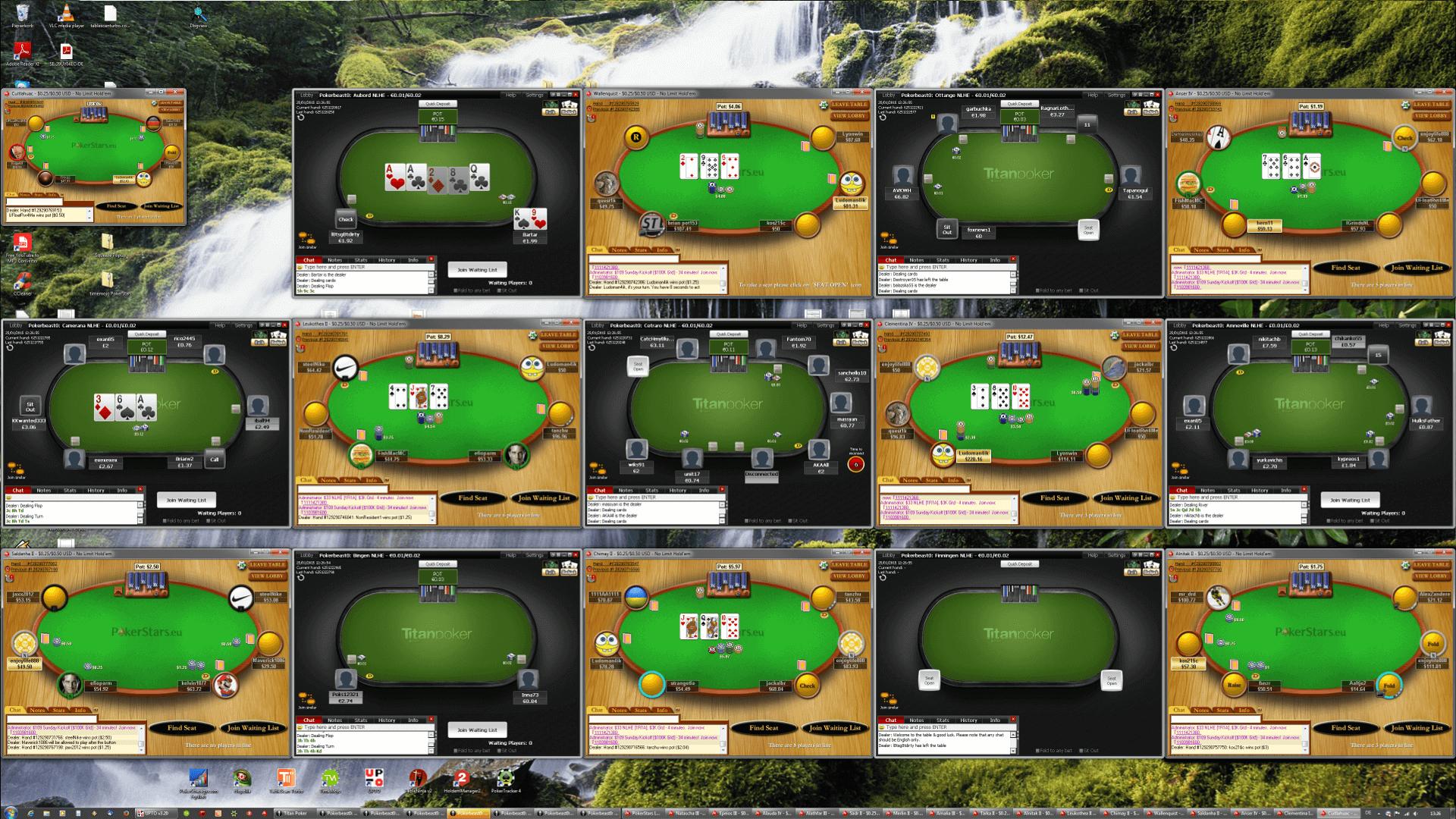 Poker Tischanordnung - UHD(5x3)