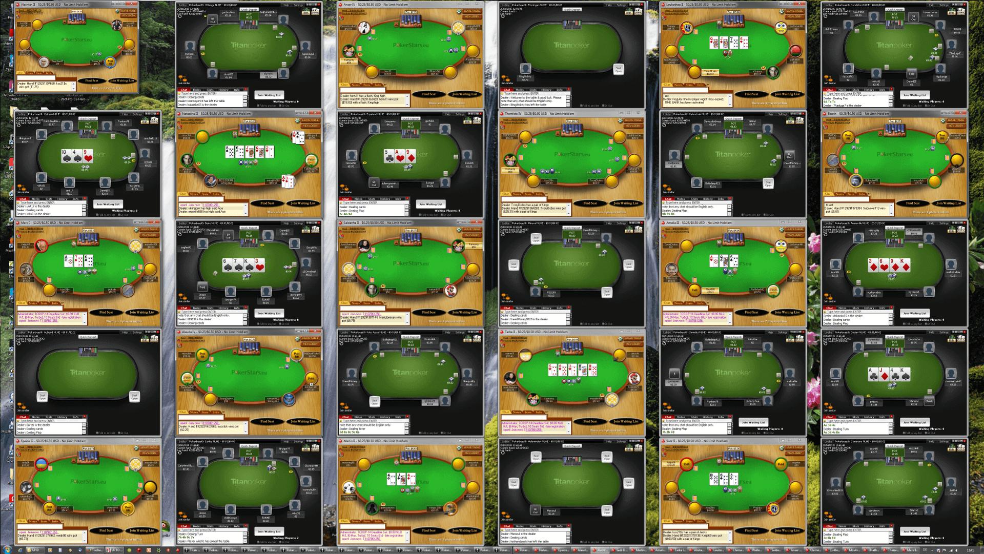 Poker Tischanordnung - WQHD(6x5)