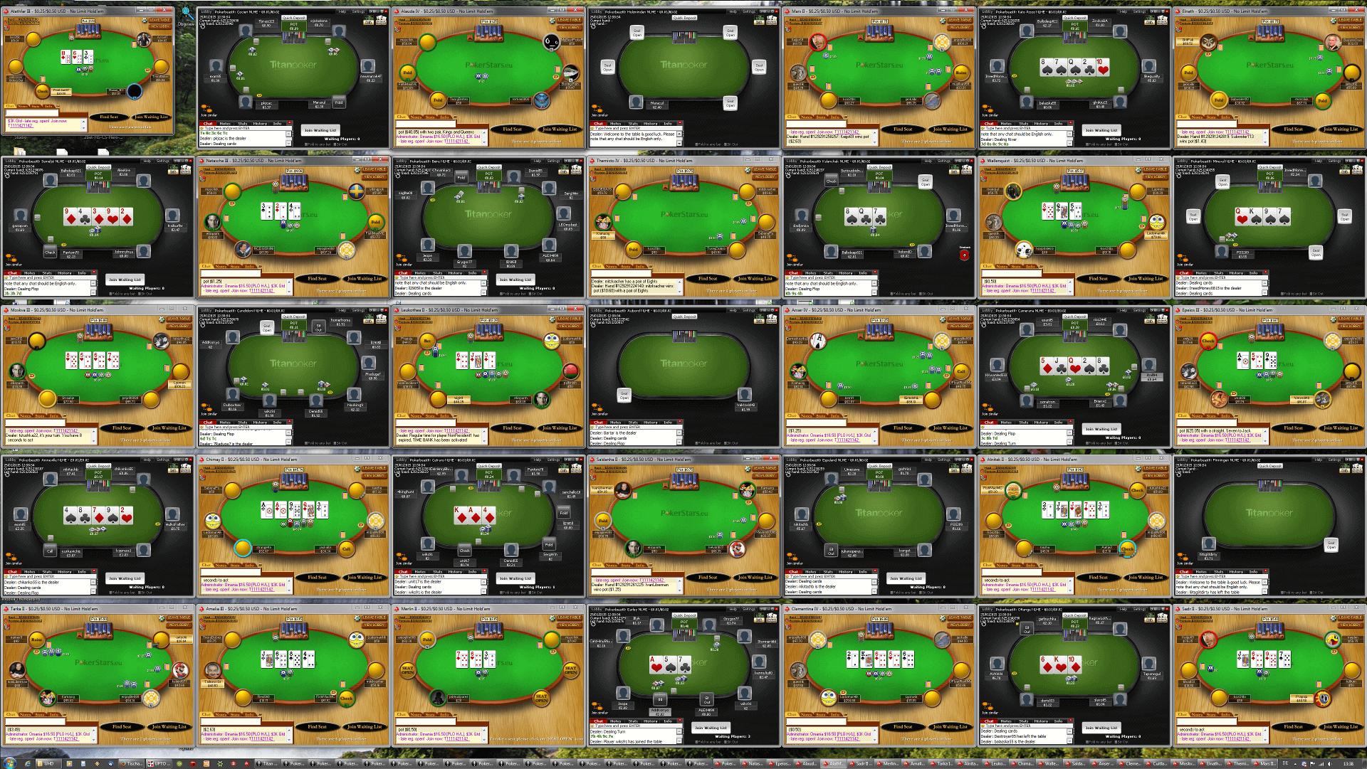 Poker Tischanordnung - WQHD(7x5)