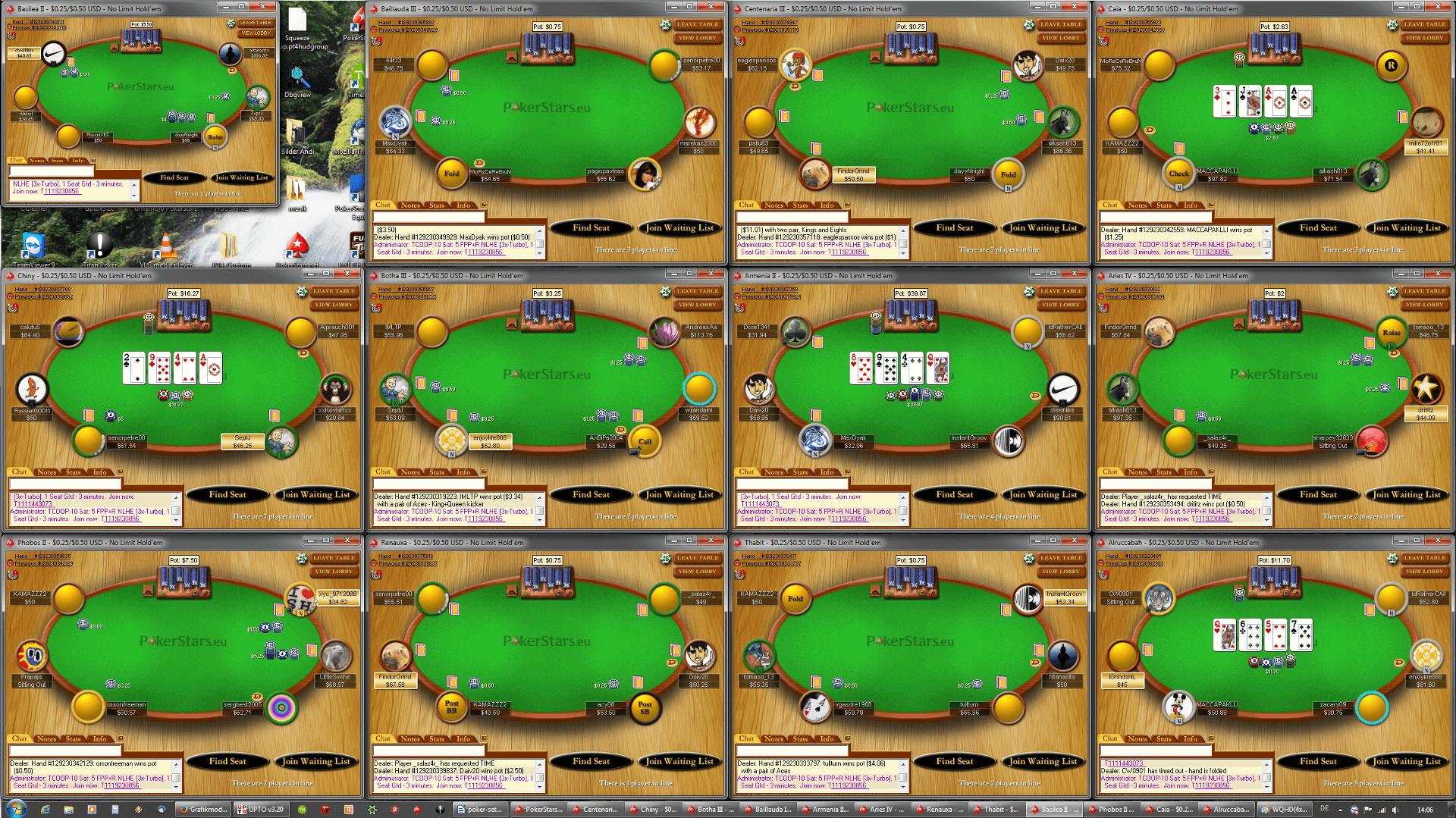 Poker Tischanordnung - WQHD(4x3)