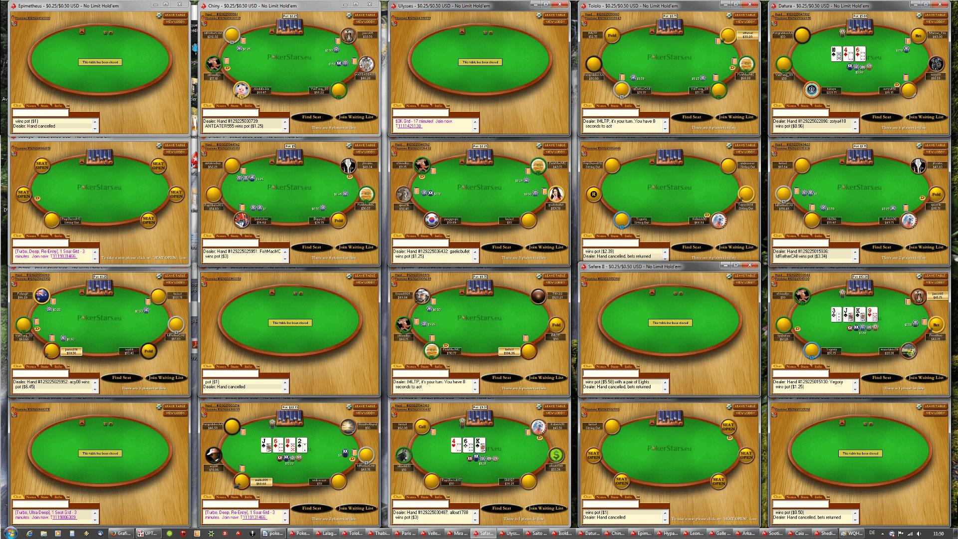Poker Tischanordnung - WQHD(5x4)