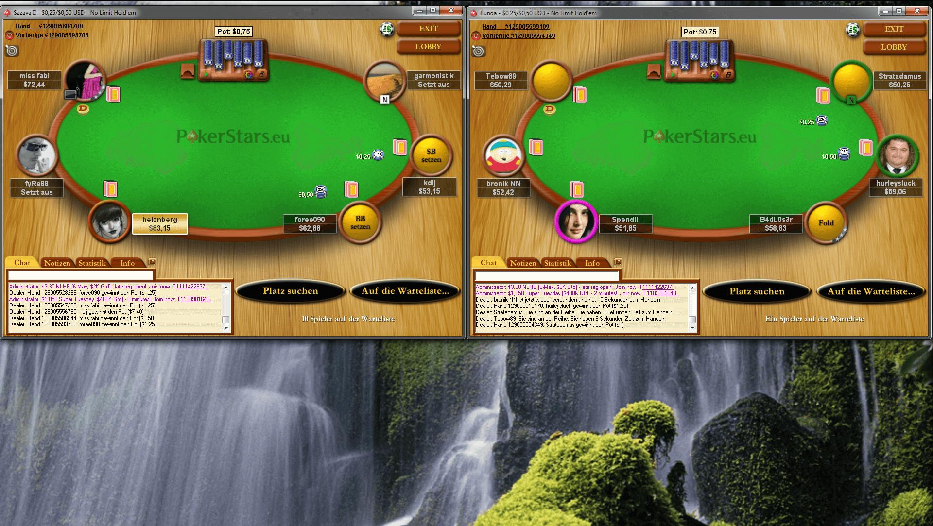 Poker Monitor - Tischanordnung