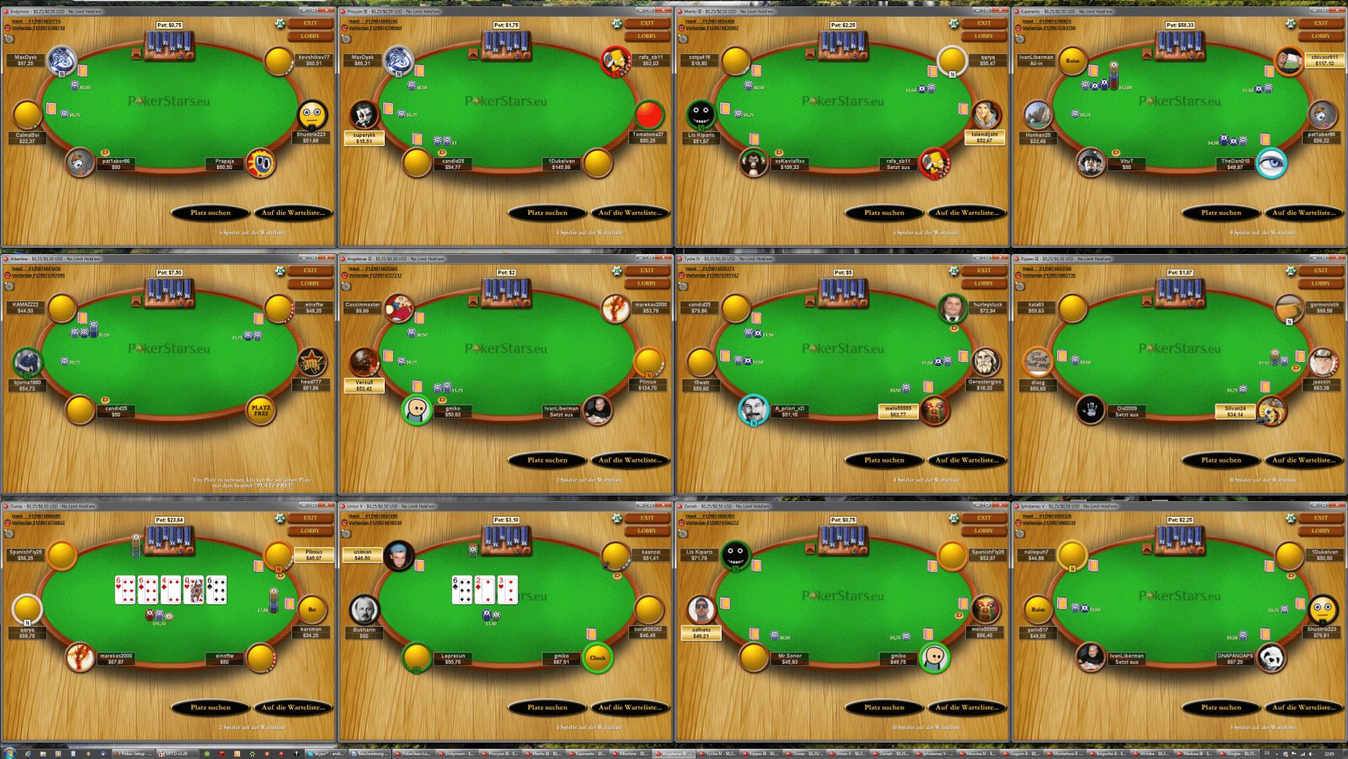 Poker Monitor - UHD eigene Tischanordnung