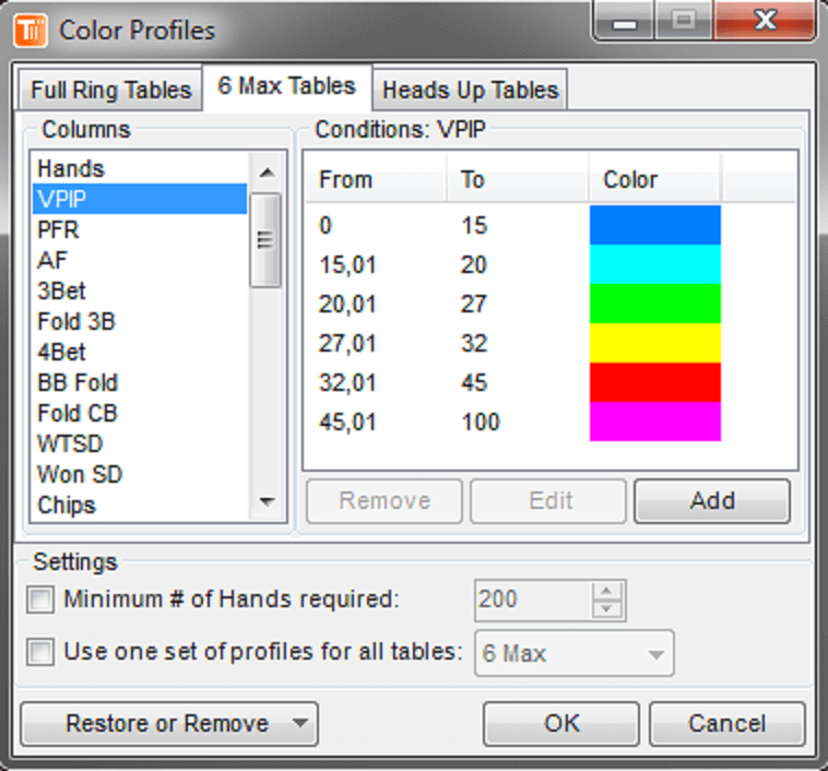 TableScan Turbo-Color Profiles