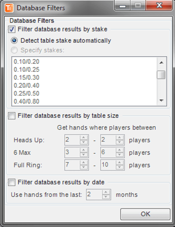 TableScan Turbo - Database Filters