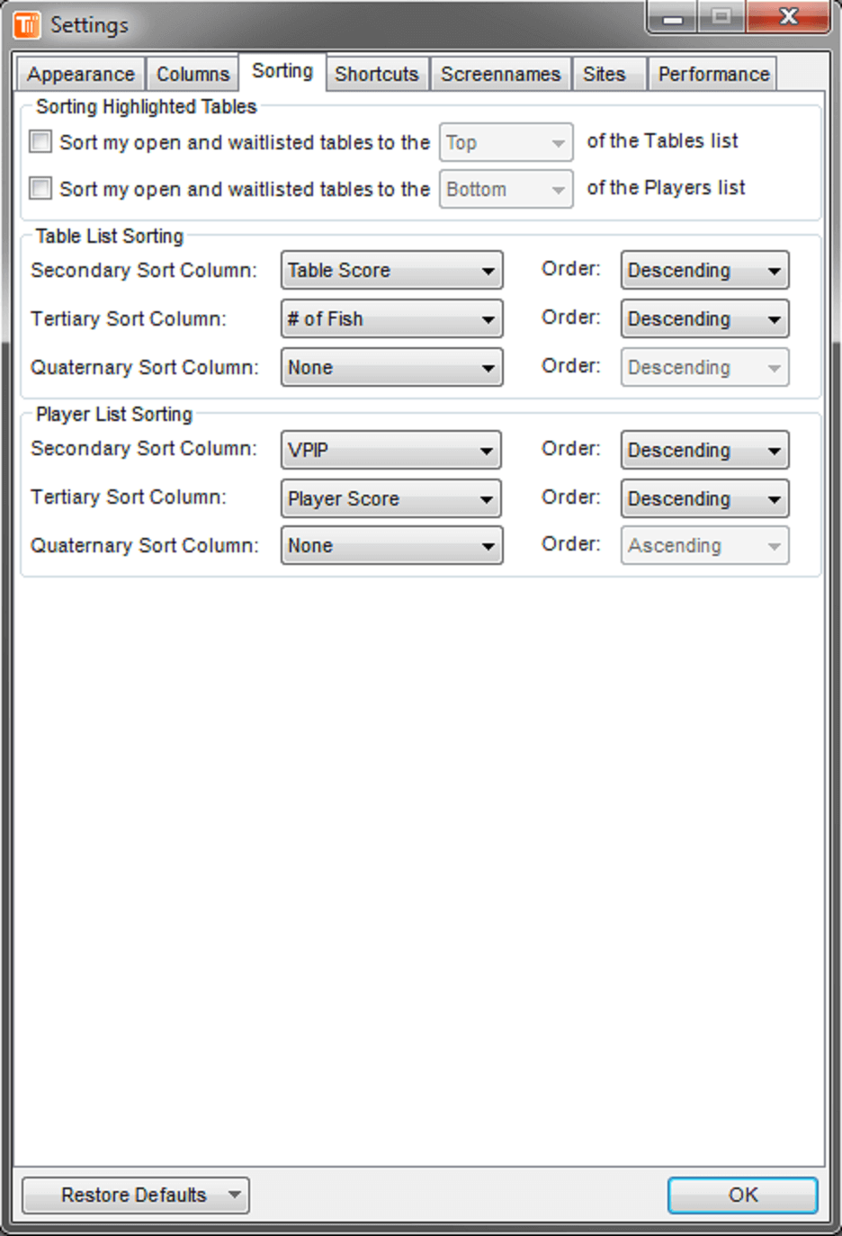 TableScan Turbo - Settings3