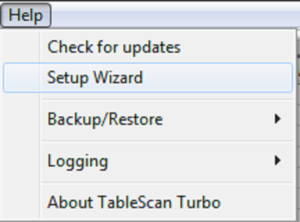 TableScan Turbo - Setup Wizard