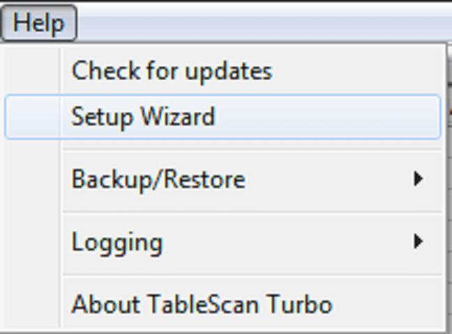 TableScan Turbo - Setup Wizard
