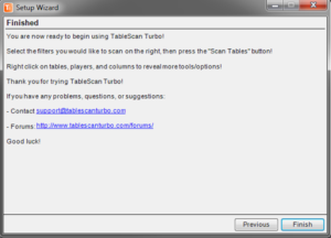 TableScan Turbo - Setup Wizard5